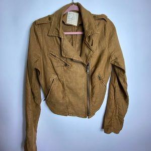 Free People 1970 Military Brown Jacket Women's 8